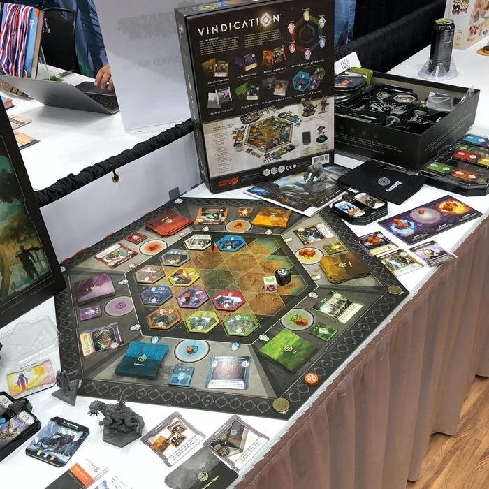 Our advanced copies of Vindication were on display at GenCon...did you swing by?