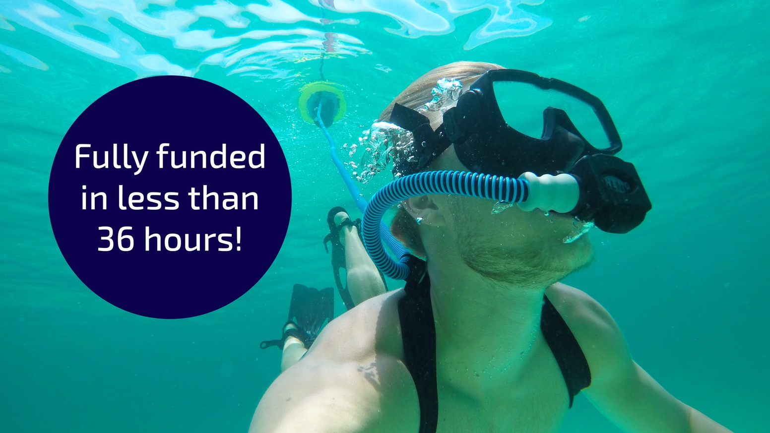 Take snorkeling to the next level with NEMO.  1 diver | 10 ft | 60+ min – NOW ON INDIEGOGO