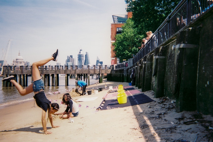 Thames beach by Paul McGrail. June 2019 in MyLondon calendar.