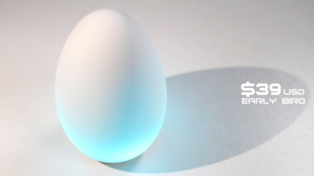 MORNI : Eggy Squishy silicone alarm clock and ambient light