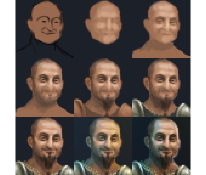The NPC painting process