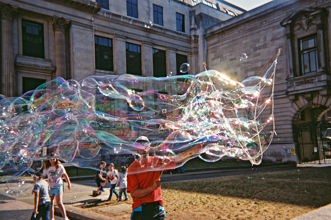 Monster bubbles by Denise Allison. May 2019 in MyLondon calendar.