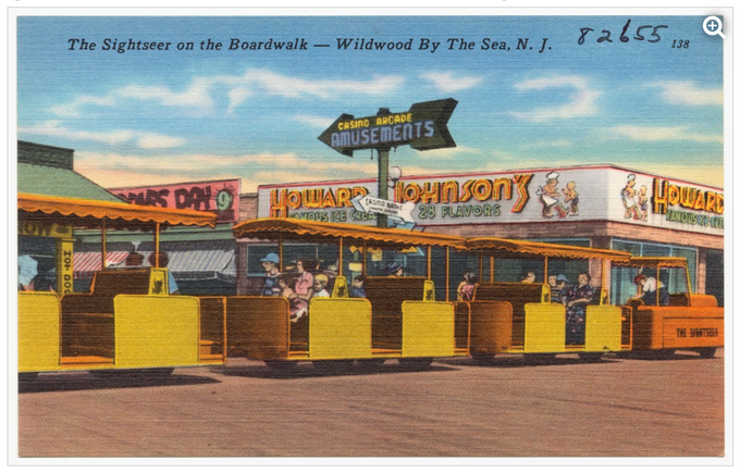 The sightseer on the boardwalk, Wildwood by the Sea, N. J.