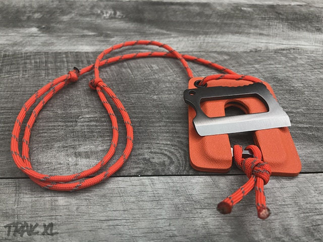 TRAK XL Titanium with Orange Neck Sheath