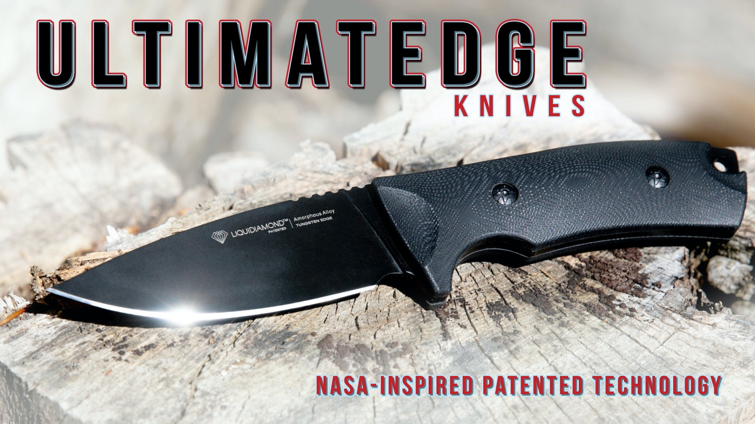 A Bushcraft & Survival knife featuring an edge of patented metal alloy matrix pioneered by NASA plus the superb strength of tungsten.