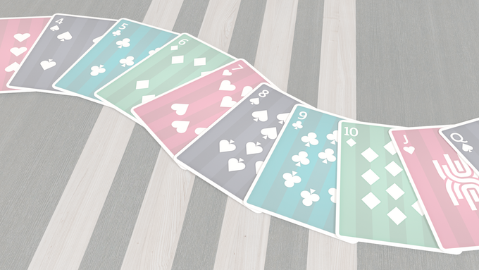 The Metropol NEXT deck features white pips and indices on bold coloured backgrounds, one colour for each suit.
