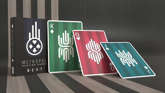 The court cards feature an updated version of the trademark Metropol design.