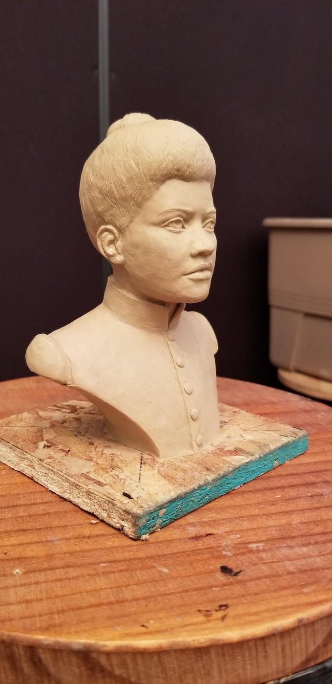 Ida B.  Wells clay bust complete!  08.08.2018