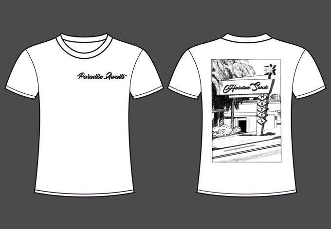 acef876c A Hawaiian Sands motel t-shirt designed specifically for the film.