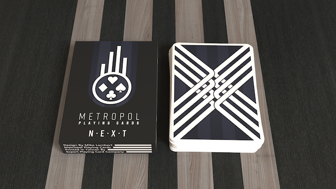 The Metropol NEXT tuck and card back design