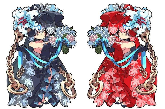 Beautiful Veiled Bride (original character) | Veiled Siren (backer-customized character)