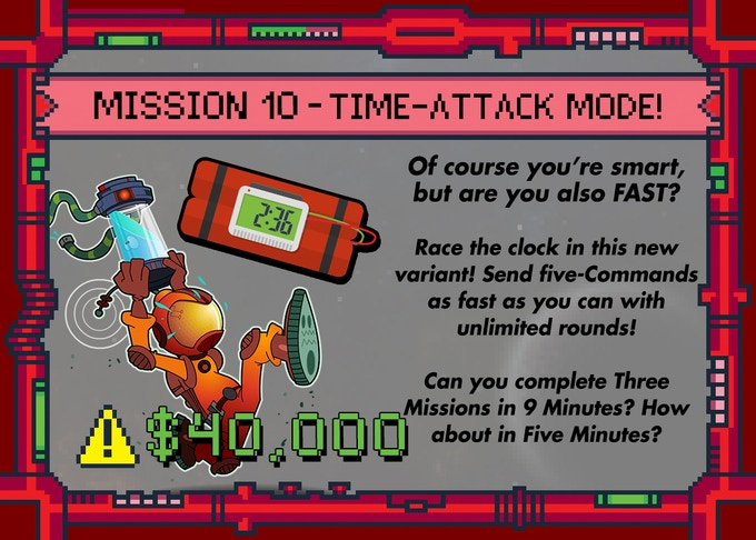 There's room for another GAME MODE! Includes everything you'll need except a clock!