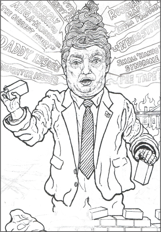 A close up of Donald Gnumpf picture from the page about the 2016 US Presidential Campaign