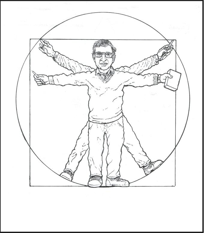 'Vitruvian Chomsky' image from the book's Introduction'