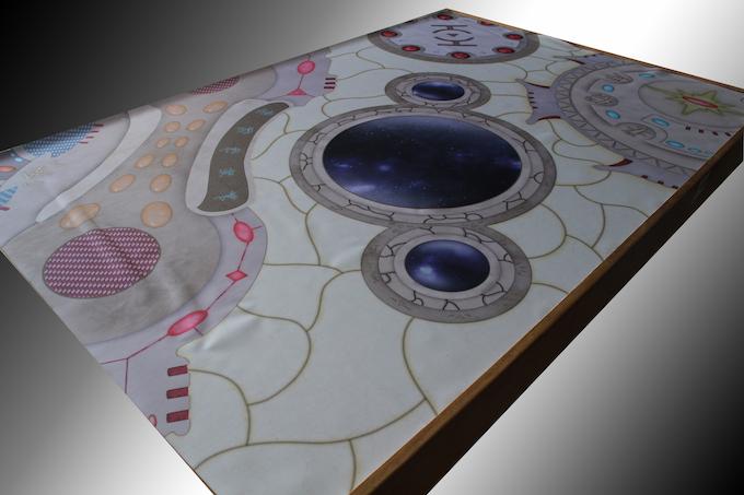 Ancient Worldship neoprene gaming mat