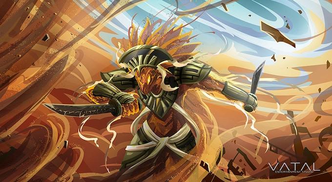 Driac speeds through the desert because he IS the desert.