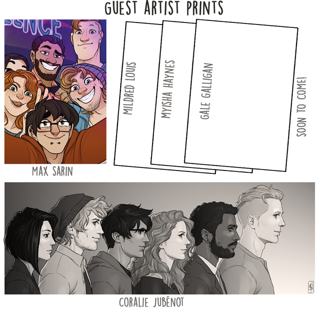 See the section below to find out more about the artists!