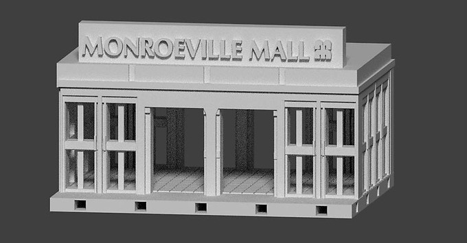 "The ""Old School"" pledge includes models based on the the 1978 Monroeville Mall featured in the George Romero film, Dawn of the Dead."