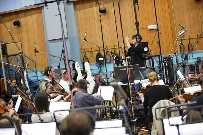 Mr. Sato conducts the London Symphony Orchestra at the Abbey Road Studios