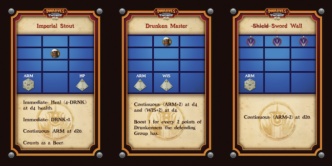 Examples of Defense Action Cards