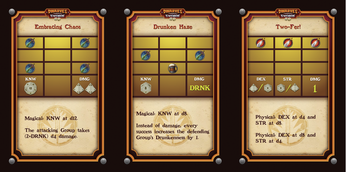 Examples of Attack Actions Cards
