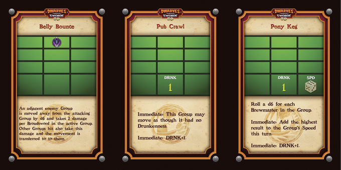 Examples of Move Action Cards