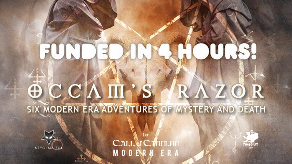 Occam's Razor, a collection of scenarios for Call of Cthulhu project video thumbnail