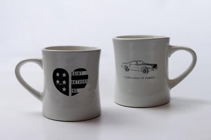 Truck Loads Black Heart Diner Mug