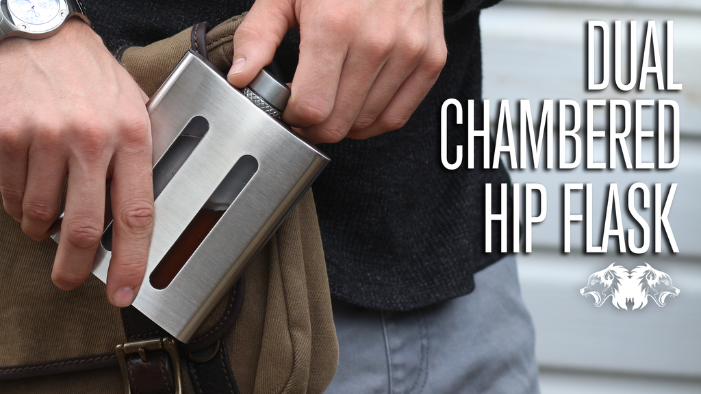 Dividere Flask | Dual Chambered Hip Flask project video thumbnail