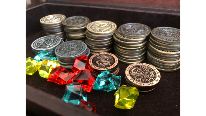 Coins will be similar to these in final production