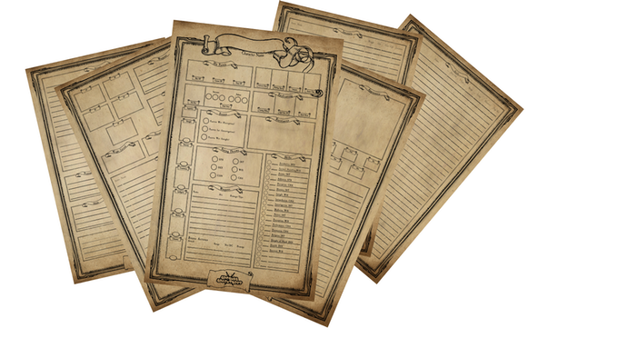 First 6 pages are your character sheet
