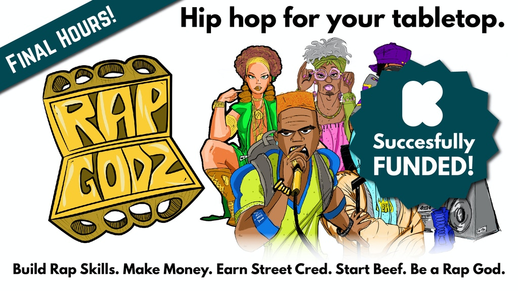 Rap Godz | The Hip Hop Strategy and Storytelling Board Game project video thumbnail