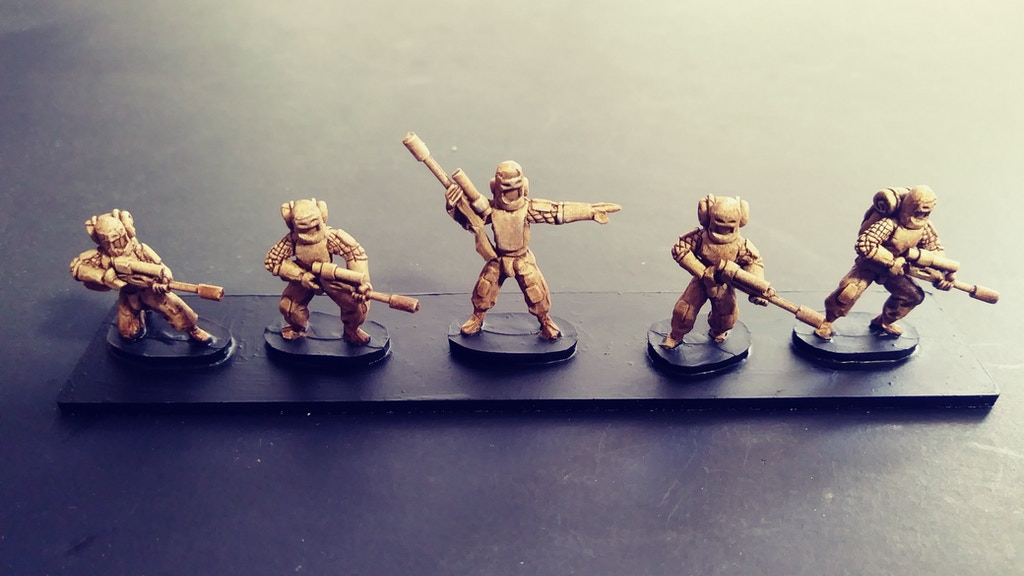 Project image for The I.E.A Wars 15mm Sci Fi Tabletop Wargame Miniatures (Canceled)