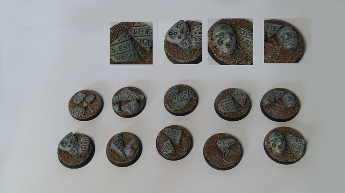 25mm Temple bases