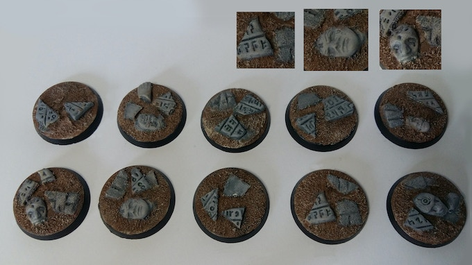 30mm Temple Bases