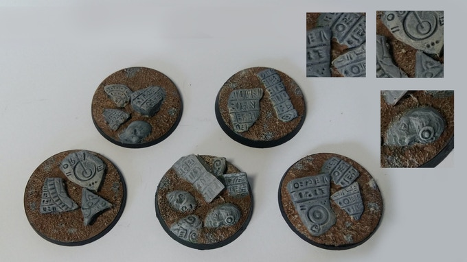 40mm Temple Bases