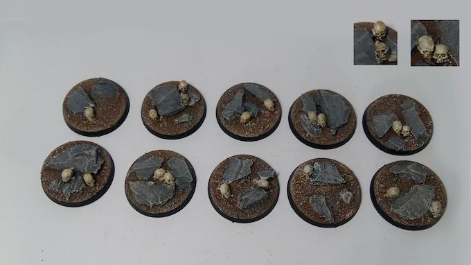 30mm Skull & Rock Bases