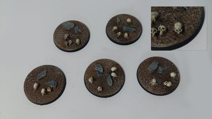 40mm Skull & Rock Bases