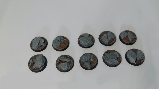 25mm Rocky Outcrop Bases