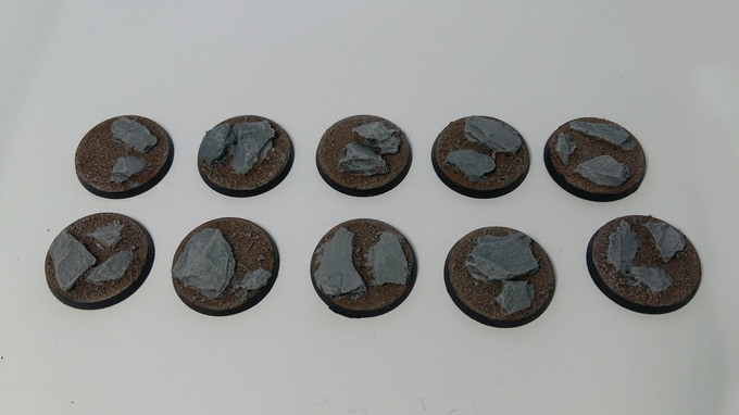 30mm Rocky Outcrop Bases