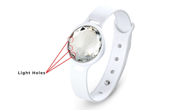 Light Holes in Misfit Smart Jewelry Crystal