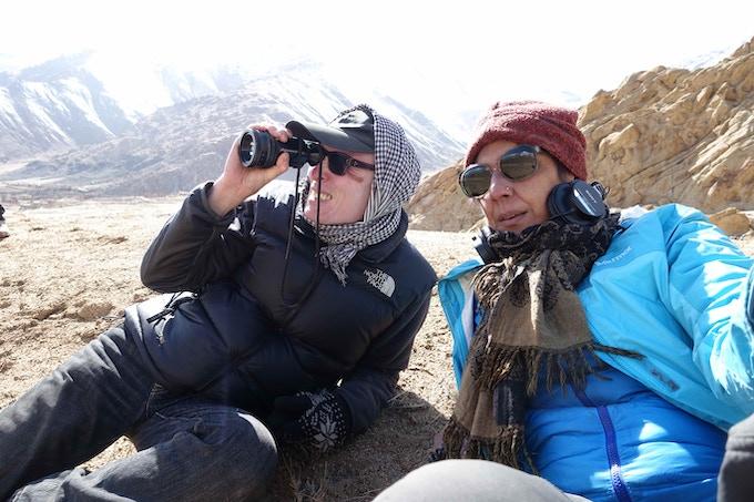 Ritu & Tenzing on location in Ladakh, India