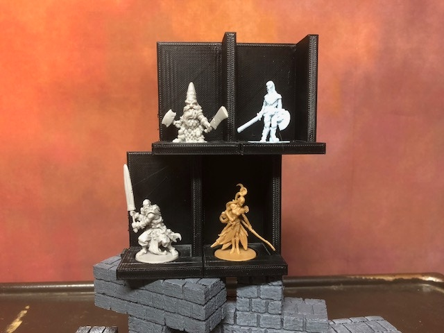 Tester shelf segment (shown here stocked with CMON miniatures) is available to download and print right now.