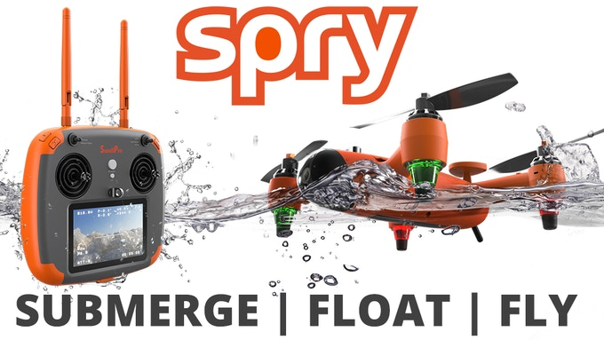 Both Spry and Remote Control are Waterproof and Float