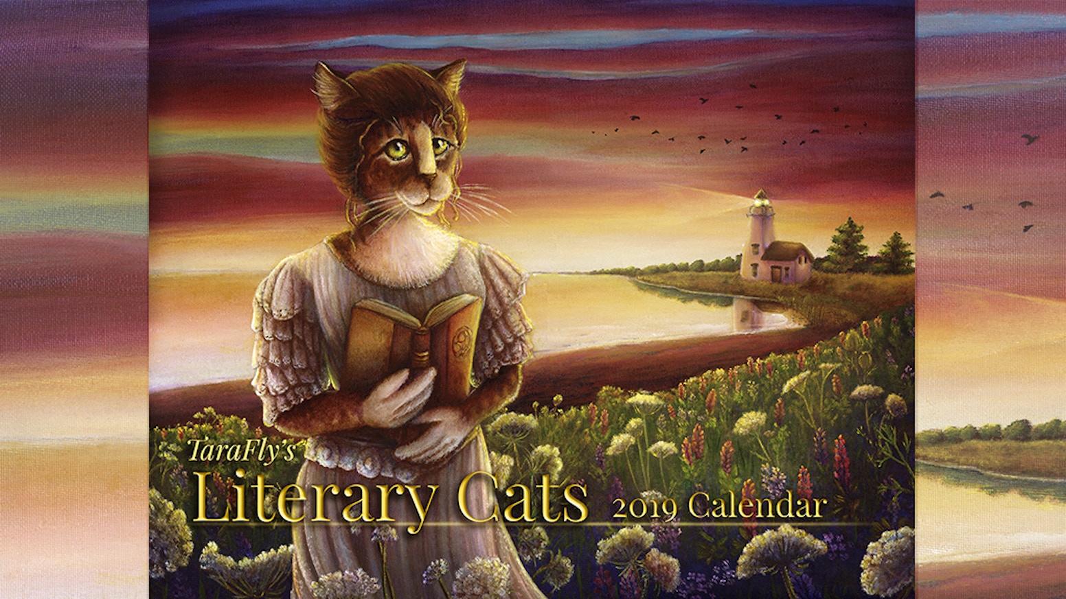 2019 Literary Cats Art Calendar by Tara Fly — Kickstarter
