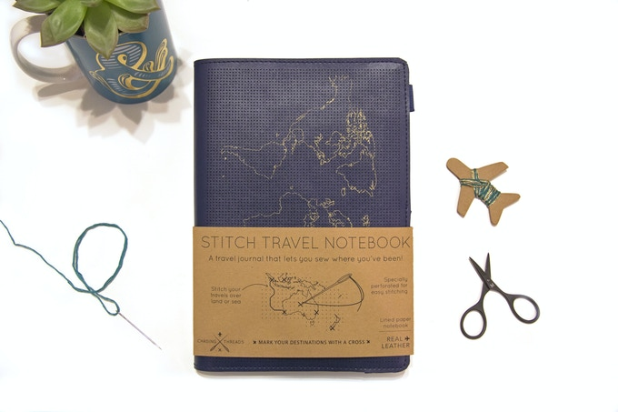 Stitch Travel Notebook will come packaged with 2 x threads & 1 needle