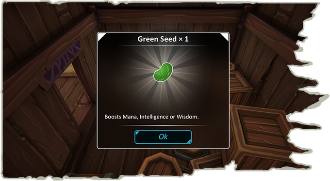 Found a green seed!