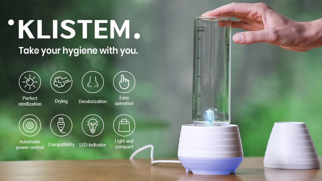Klistem: One-Touch l 90-Second l 99.99% Portable Sterilizer