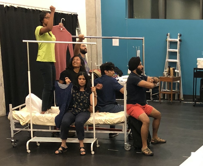 The cast of Amal at the Seattle workshop