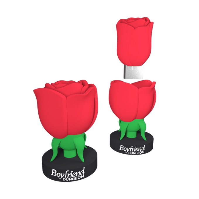 The Bae Box Set includes an elegant rose USB key, in which to hide your heart's secrets.